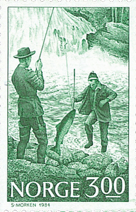 Sverre Morken, Laksefiske i Etneelva i Sunnhordland,