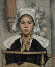 Maria Wiik, (1853-1928) In the Church, 1884 Ateneum Art Museum 