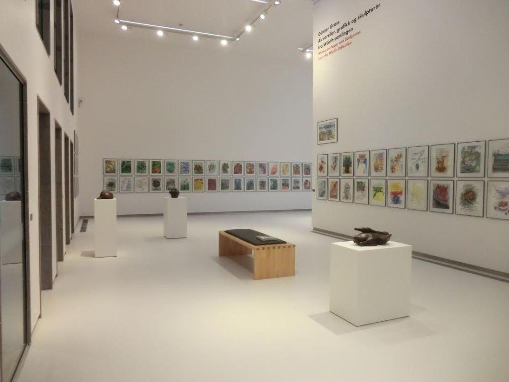 Fra G�nther Grass utstillingen, installasjonsbilde,